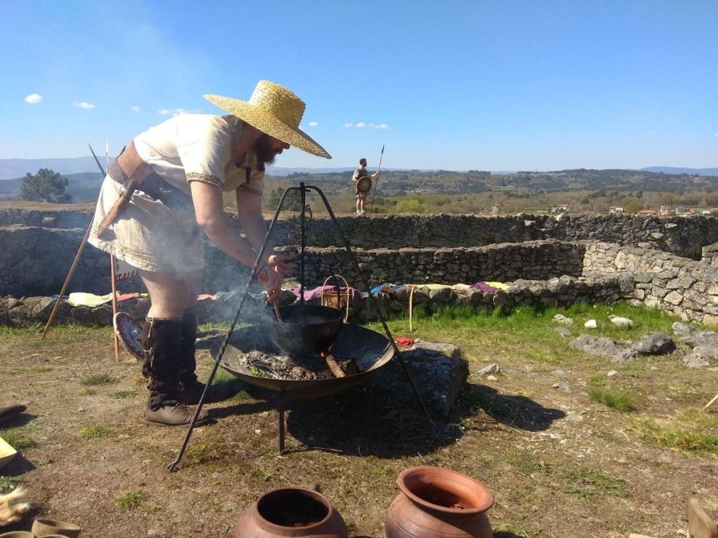 Breixo cocinando